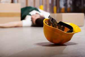 injured worker on floor